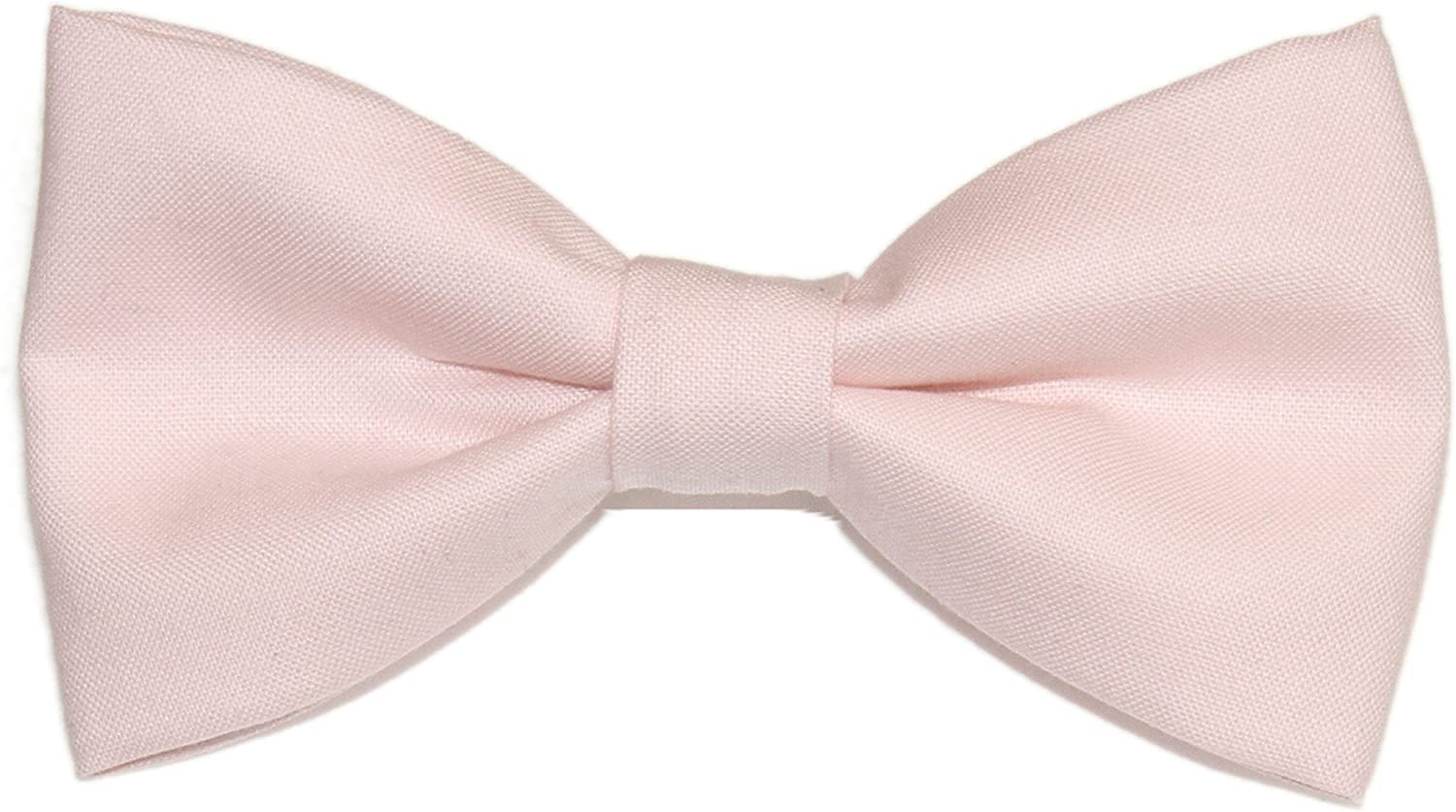 Mens Rose Pink Pre-Tied Cotton Bow Tie On Adjustable Twill Strap