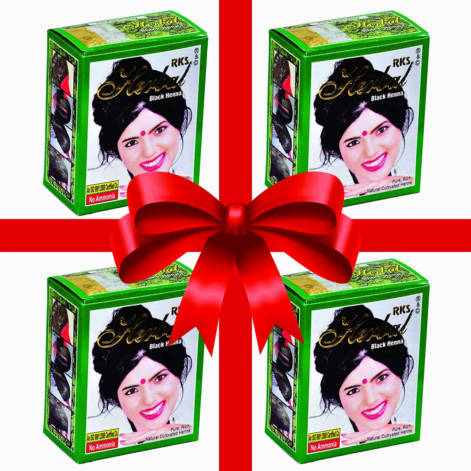 7d29d3dde Buy RKS Herbal Black Henna (PACK OF 4 BOX) Online at Low Prices in India -  Amazon.in