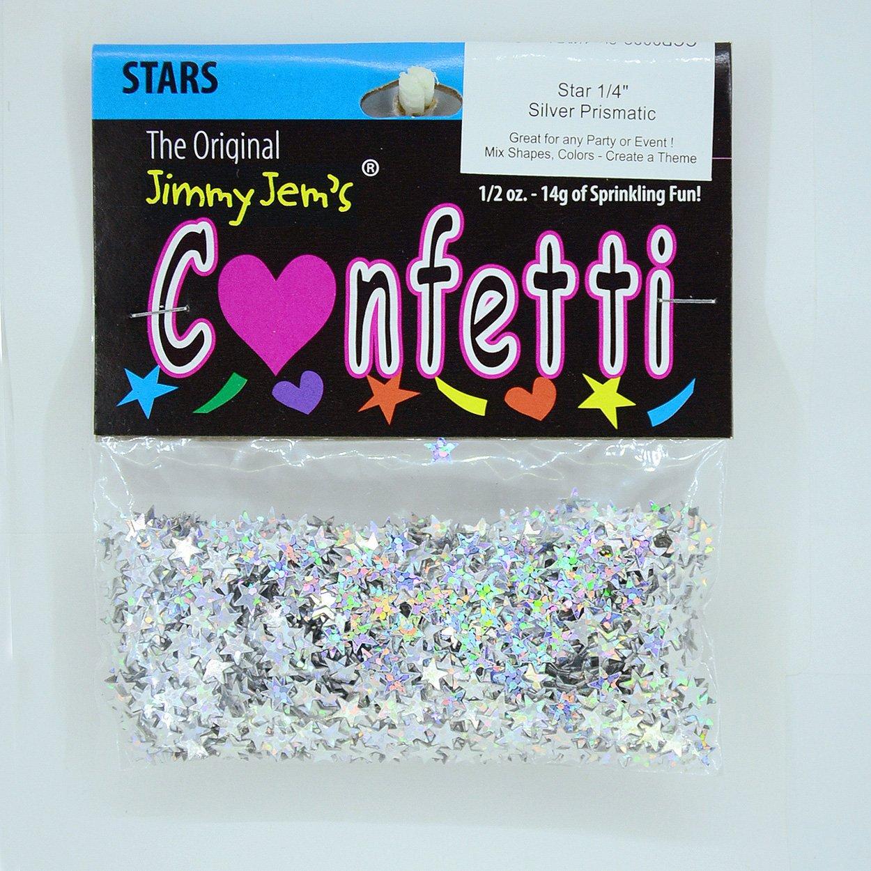 Blue Metallic Confetti Stars or Hearts Circles Each pkg 1 oz