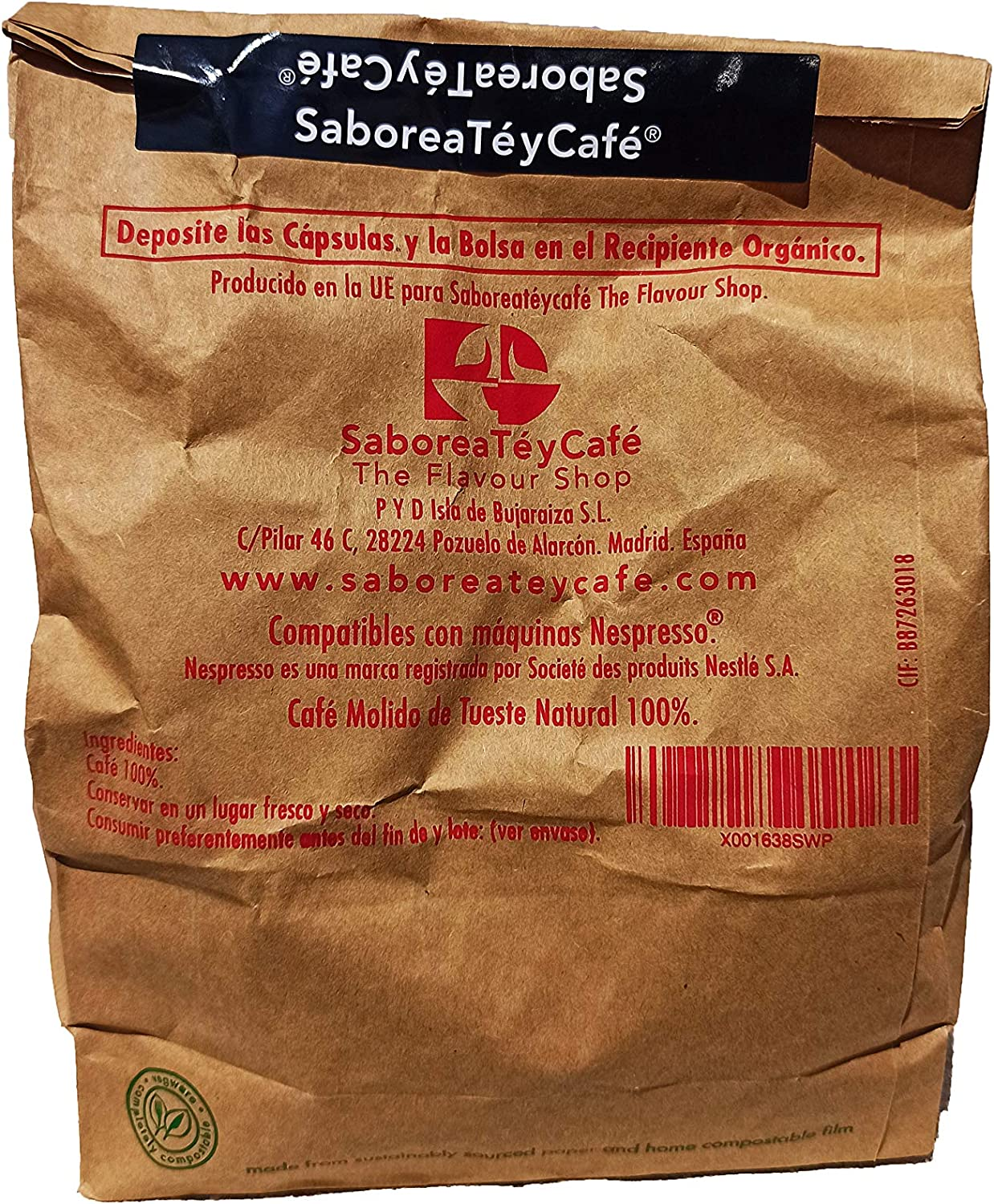 SABOREATE Y CAFE THE FLAVOUR SHOP - Cápsulas de Café Intenso ...