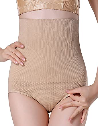 d43aa78392886 MyTeng Women s High-Waist Shapewear Seamless Tummy Control Body Shaper (Tag  M L