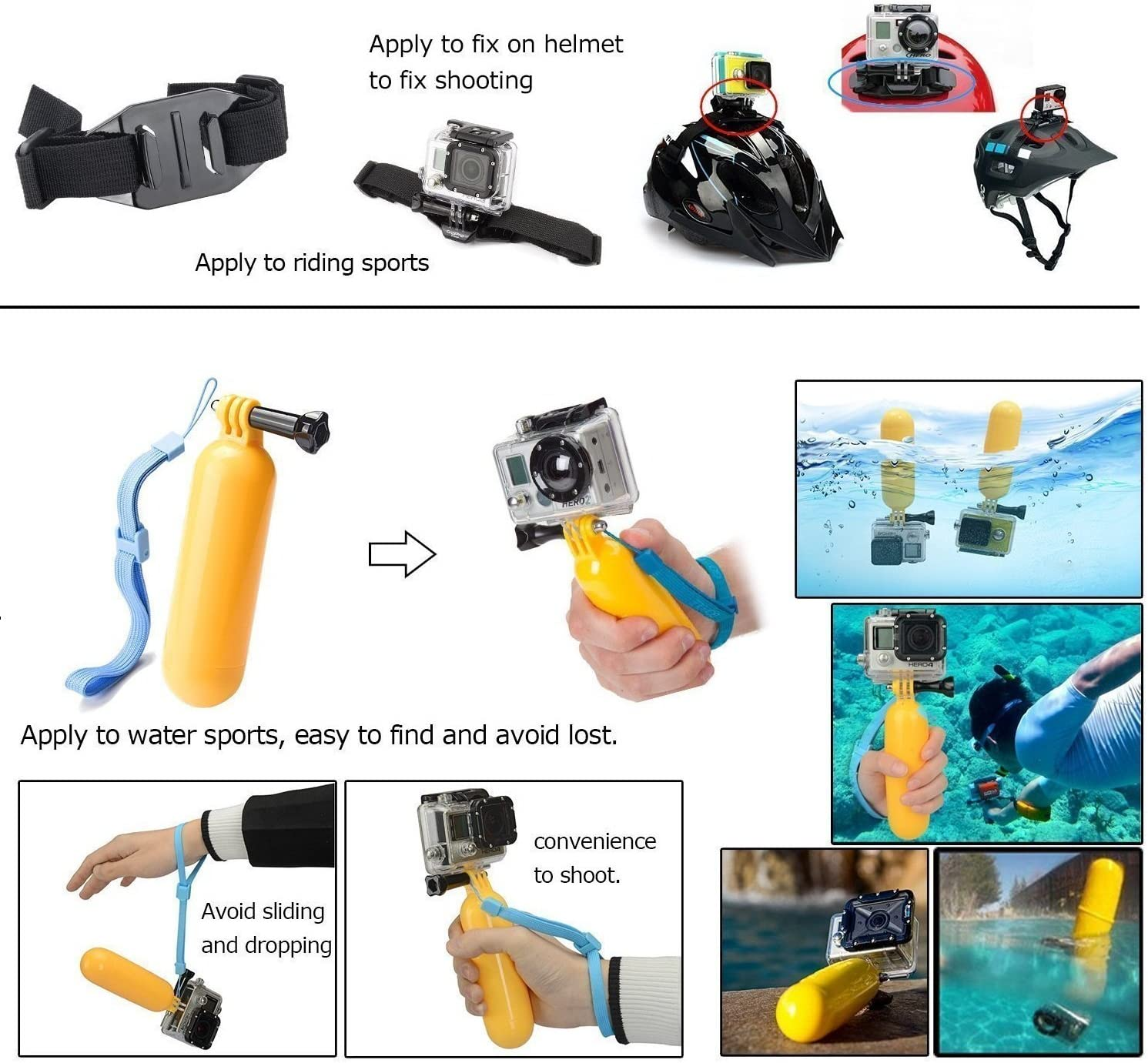 TEKCAM 2in1 Car Charger Mount Suction Cup Bracket Compatible with Waterproof Action Sport Camera Not fit Gopro