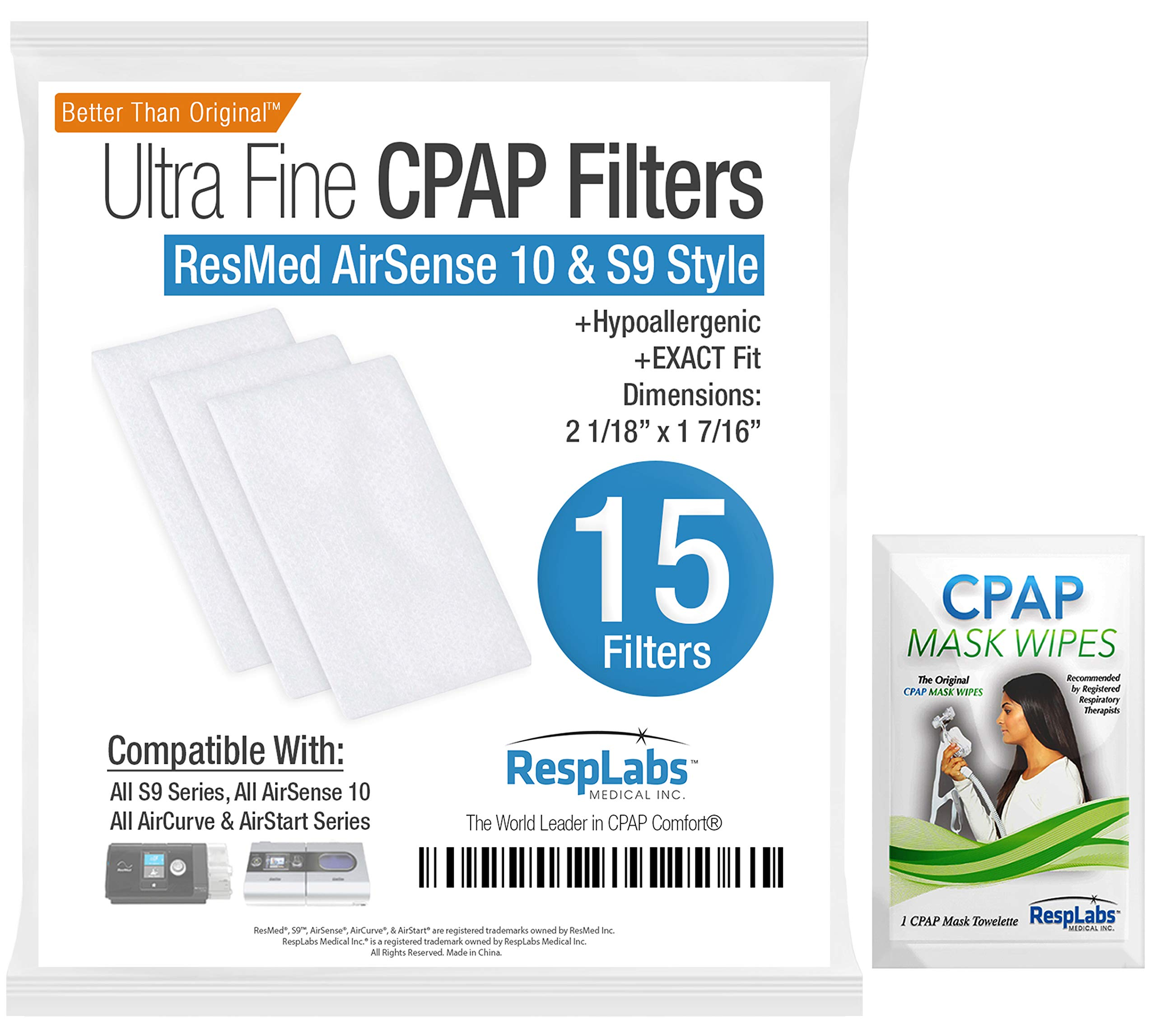 promo code 488e3 29fb9 CPAP Filters, ResMed AirSense 10 Compatible — Also  S9, AirStart   AirCurve