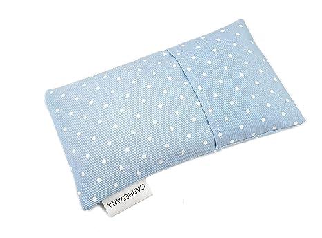 Saco térmico anti-cólicos bebé de semillas de trigo y lavanda.23 x 12cm (Azul topos)