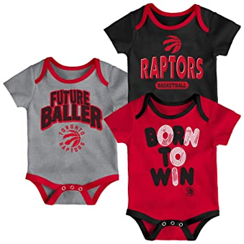 best loved f073c 9524b Toronto Raptors Newborn Little Fan 3-Piece Creeper Set ...