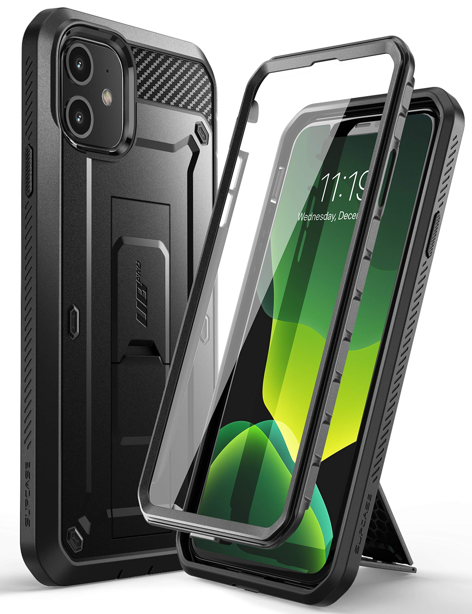 SUPCASE [Unicorn Beetle Pro Series] Case Cover Compatible with iPhone 11 6.1 Inch (2019 Release), Built-in Screen Protector Full-Body Rugged Holster Case (Black) (B07W5PV19Y) Amazon Price History, Amazon Price Tracker