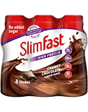 SlimFast Meal Replacement Shake, Chunky Chocolate, 325 ml, Pack of 6