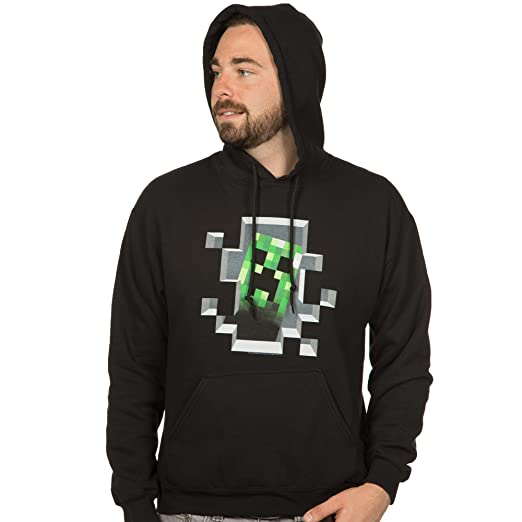 Minecraft Creeper Inside Hoodie, Black, Small