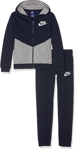 Nike B NSW TRK Suit BF Core Chándal, Niños, Azul (Obsidian/dk Grey ...
