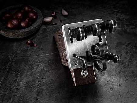 Zwilling 36133-000, Bloque de Cuchillos de autoafilado Gourmet, marrón Oscuro, para 7 Piezas