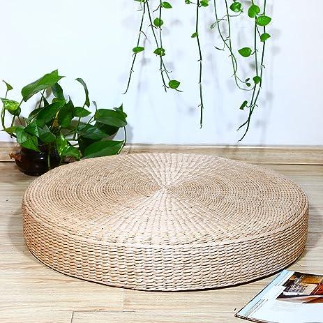 Eshow Japanese Tatami Floor Pillow Zafu Natural Seat Furniture Meditation  Furniture Floor Mat Cushion Yoga Mat