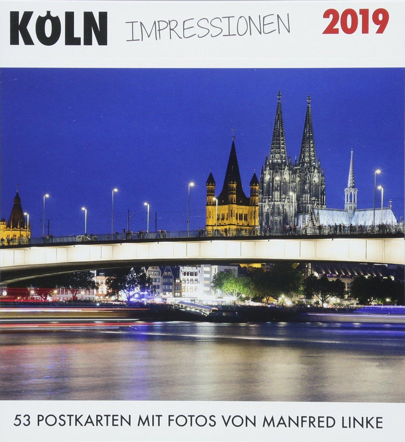 Köln Impressionen 2019: 53 Postkarten mit Fotos von Manfred Linke