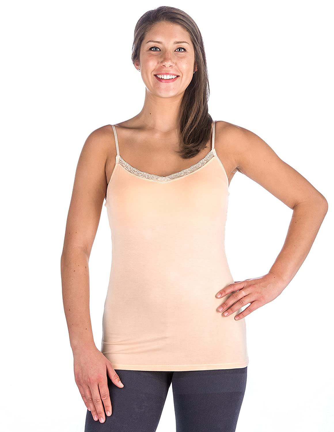 Noble Mount Womens Cool Knit Camisole 2 Pack