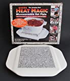 Heat Magic - Microwaveable Hot Plate: Keep Food Piping Hot for Up to One Full Hour - Anywhere!