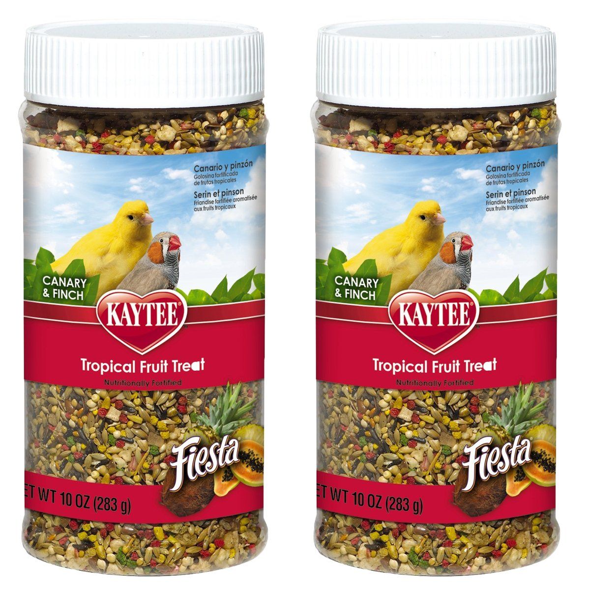20-Ounce Kaytee Fiesta Tropical Fruit Treat for Canaries & Finches, 20 oz