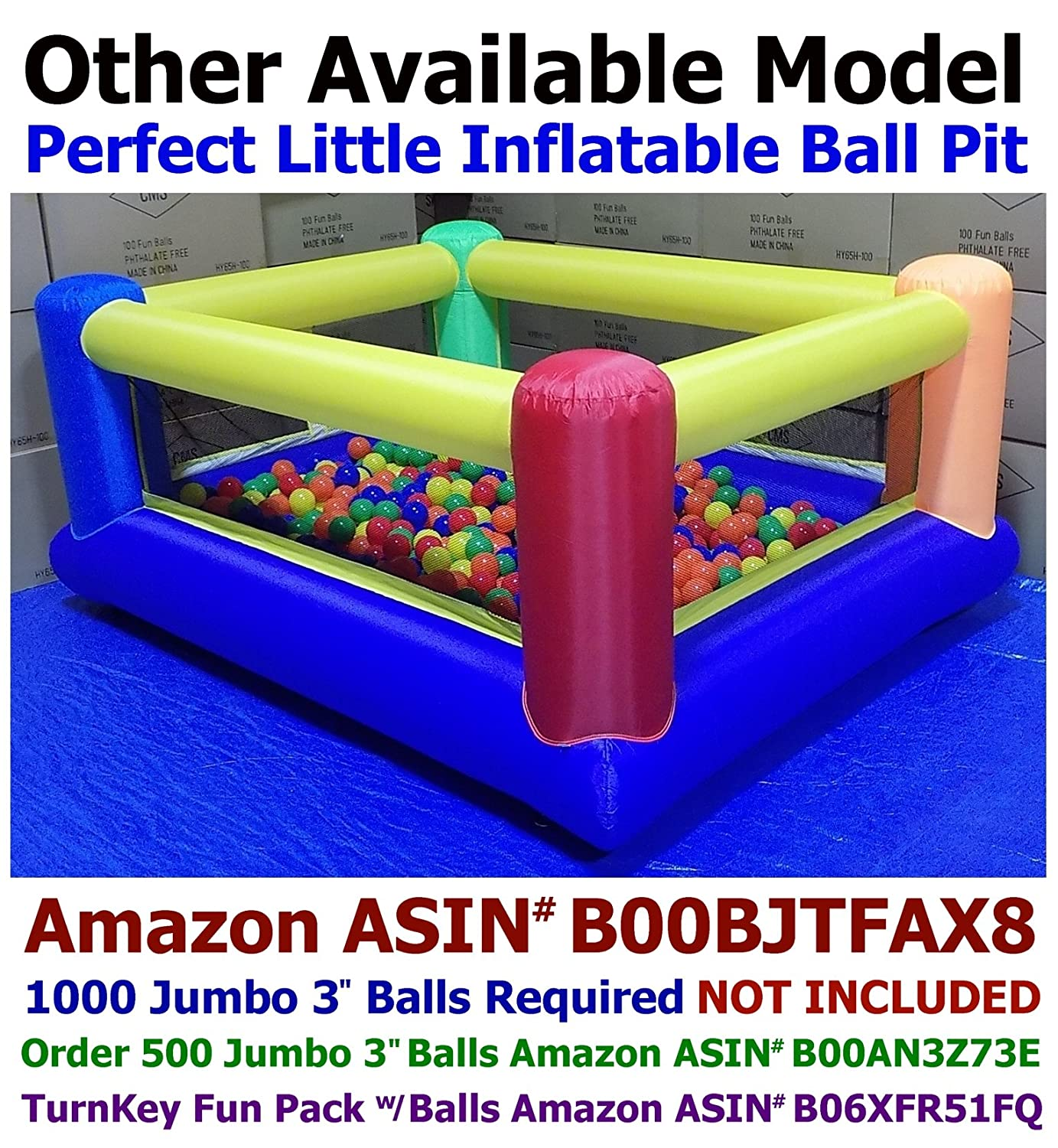 Amazon.com: Bounce House Only - My Bouncer Little Square Castle ...