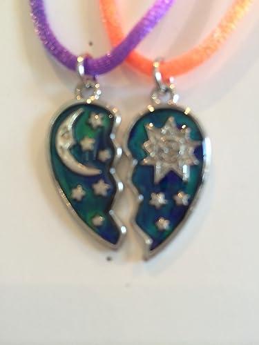 Amazon best friend half heart mood sun moon star pendants 2 best friend half heart mood sun moon star pendants 2 necklace bff friendship aloadofball Choice Image