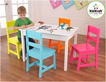 Amazoncom KidKraft Highlighter Table and 4 Chair Set Toys Games