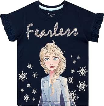 Disney Camiseta de Manga Corta para niñas Frozen Elsa
