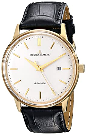 Jacques Lemans Mens N-206B Classic Analog Display Japanese Automatic Black Watch