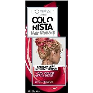 L'oreal Paris Hair Color Colorista Makeup 1-day for Blondes, Hotpink300, 1 Fluid Ounce