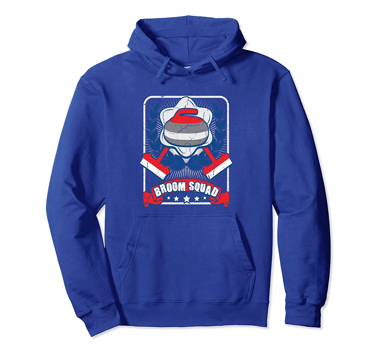 Broom Squad Funny Curling Hoodie Curling Gift-ah my shirt one gift