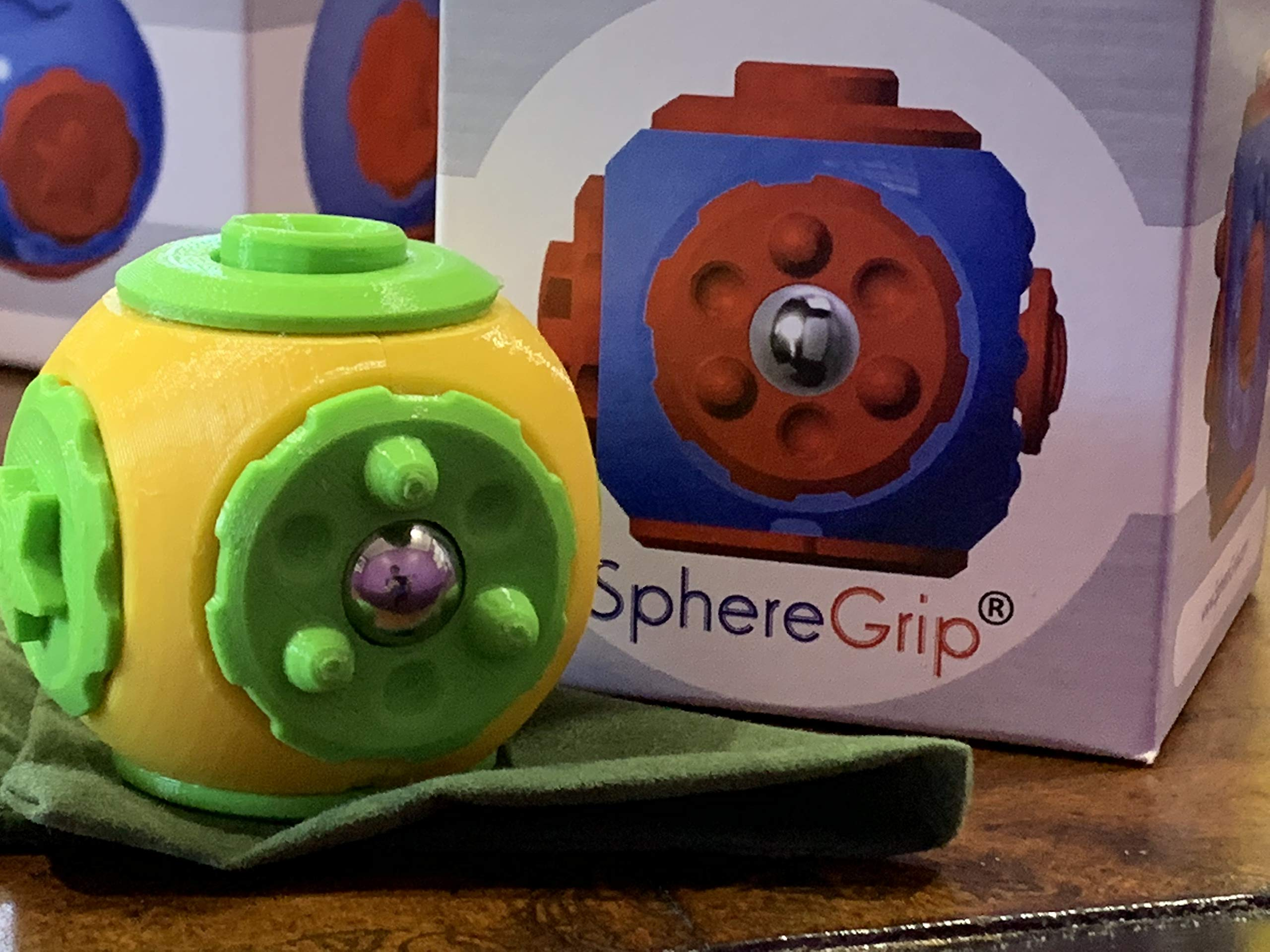 SphereGrip, Fidget toy, Reduce Anxiety and Stress, Increase Self-confidence, Fidget, Storage, Mirror (All 6 combinations) by Arbi Design (Image #5)