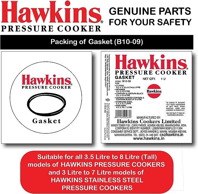 Hawkins B10-09 Gasket for 3.5 to 8-Liter Pressure Cooker Sealing Ring