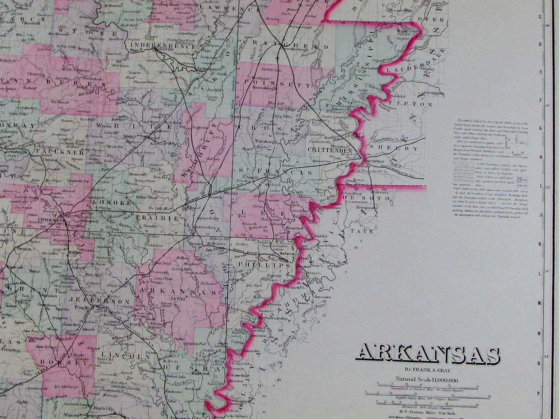 Amazon.com: Arkansas state Little Rock Fort Smith railroads ...
