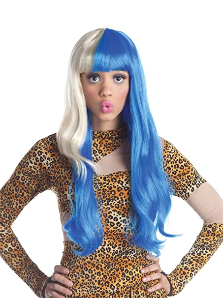 Blue And Blonde Two Tone Nicki Minaj Wig Costume Accessory