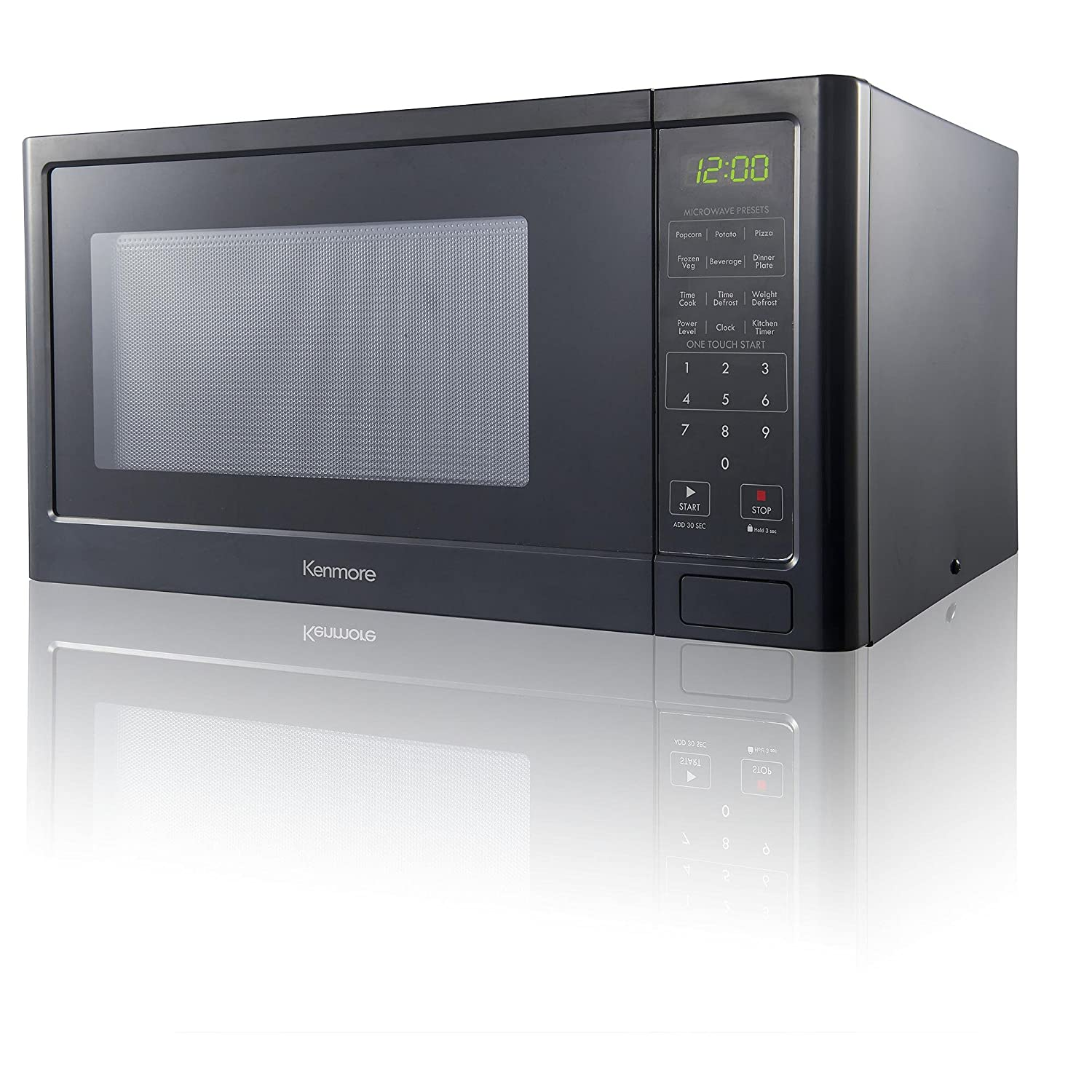 Kitchen Microwave Amazoncom Kenmore 09 Cu Ft Countertop Microwave Oven Black