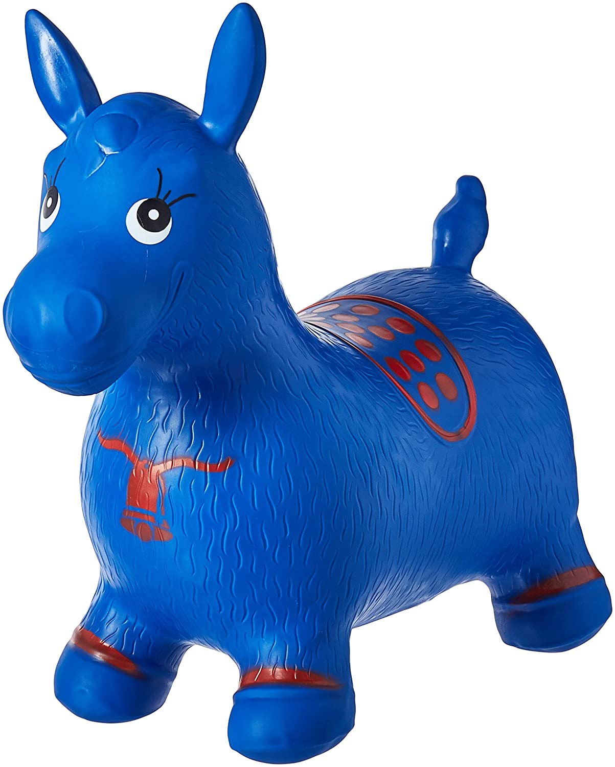 Blue Horse Hopper Pump Included Inflatable Space Hopper Jumping Horse Ride on Bouncy Animal