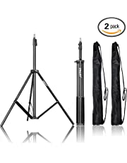 Emart Photography 7 feet (2.13m) Light Stands for Photo Studio, Video Shooting, Carry Case Include (Set of 2)