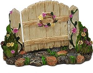 Gate with Flowers for Miniature Garden, Fairy Garden