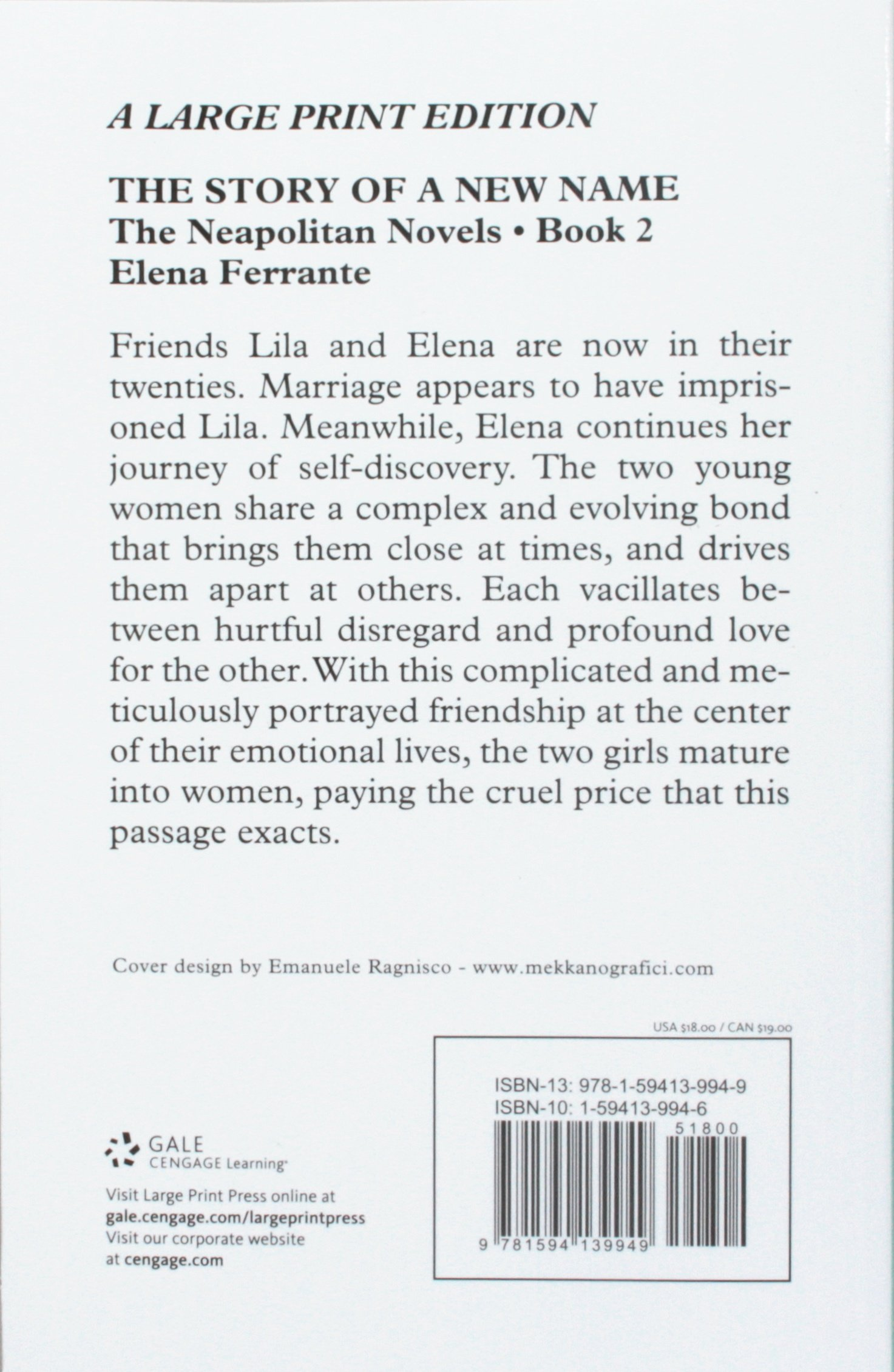 The Story Of A New Name (the Neapolitan Novels): Elena Ferrante:  9781594139949: Amazon: Books