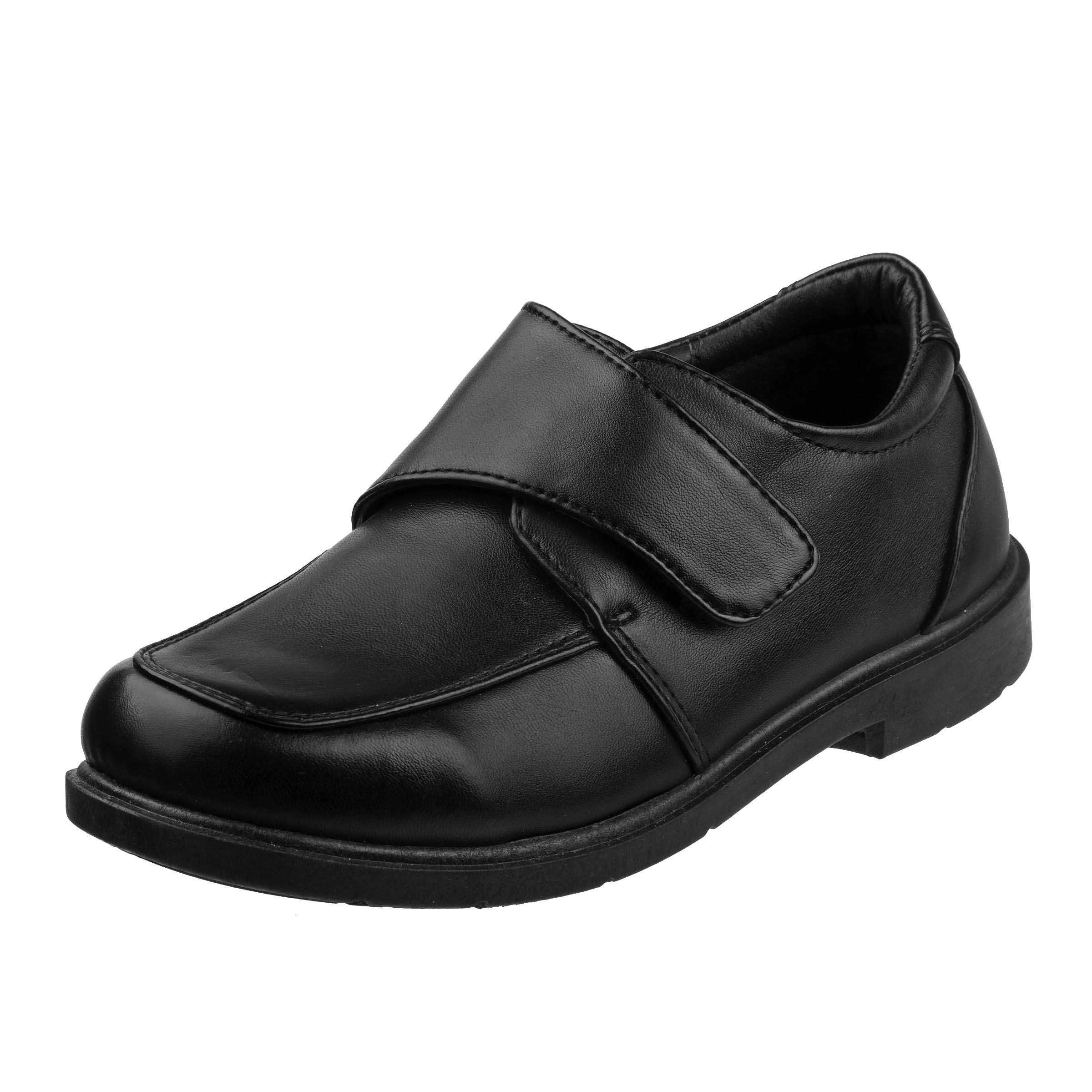 Josmo Boys Comfort School Uniform Shoes, Black Strap, 1 M US Little Kid'