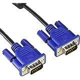 エレコム ディスプレイケーブル D-sub15ピン VGA-VGA スリム 0.7m ブラック CAC-07BK