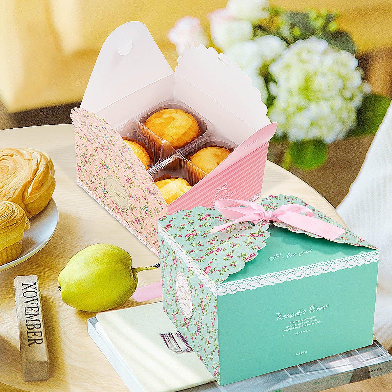 12pcs Cajas de regalo MOOKLIN Caja de dulces Caja de papel de galletas para la boda cumpleaños fiesta de bienvenida: Amazon.es: Oficina y papelería