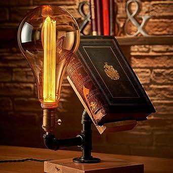 Auraglow Mysa Steampunk Lámpara de Escritorio o de Mesa de Noche ...