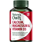 Nature's Own Calcium, Magnesium & Vitamin D3 - Maintains Healthy Muscle Function - Helps to Prevent Osteoporosis, 120…