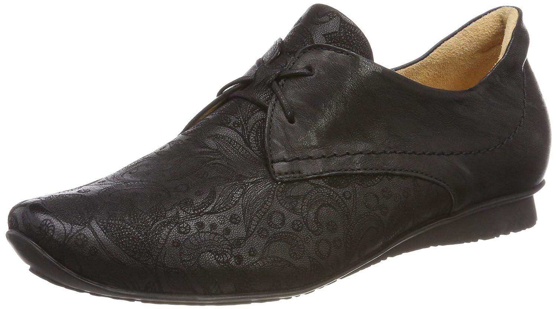 Think Chilli_282102, Zapatos de Cordones Brogue para Mujer 37.5 EU|Negro (Schwarz 00)