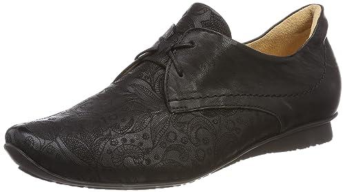 Think Chilli_282102, Zapatos de Cordones Brogue para Mujer, Negro (Schwarz 00), 38.5 EU