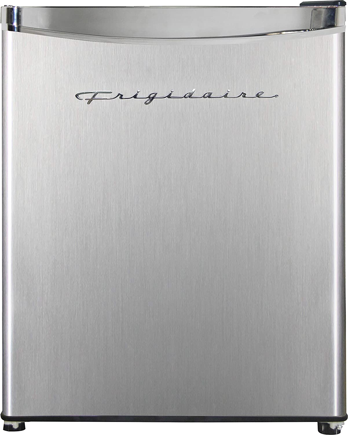 Frigidaire EFR182 1.6 cu ft Stainless Steel Mini Fridge. Perfect for Home or The Office. Platinum Series