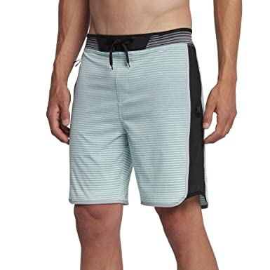 6224964c449 Hurley New Men's Phantom Hyperweave Motion Stripe Boardshort Green (30,  Mint Foam)