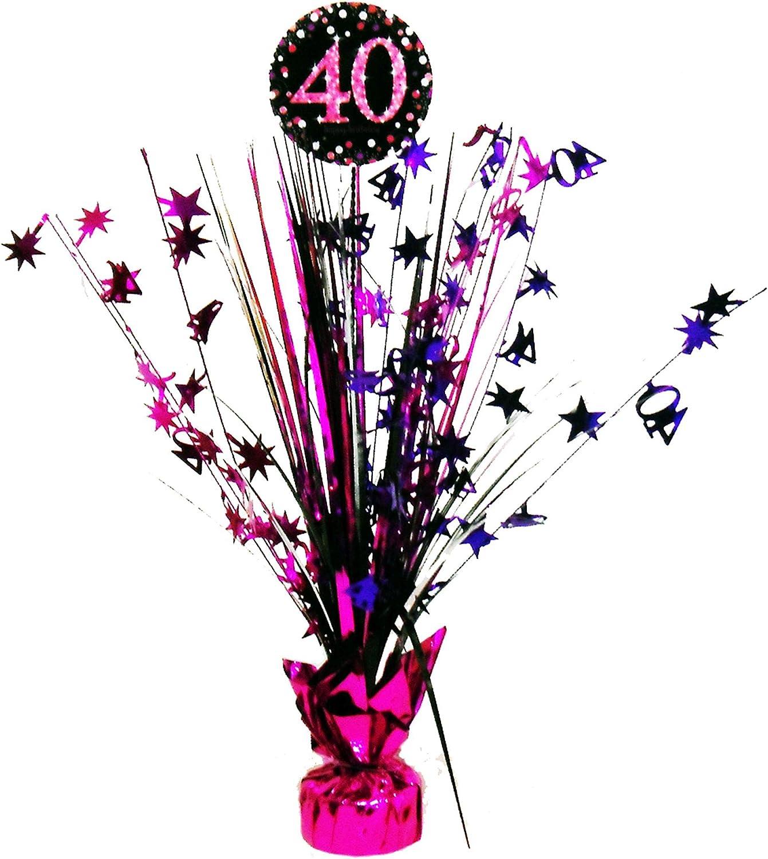 /Centrotavola per festeggiare il 40/° compleanno Amscan 9900599 33/cm