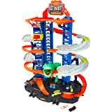 Hot Wheels City Robo T-Rex Ultimate Garage Multi-Level Multi-Play Mode Stores 100 Plus 1:64 Scale Cars Gift idea for…