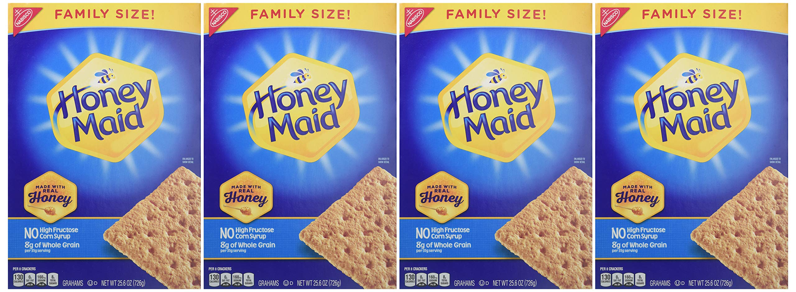 Honey Maid Honey Graham Crackers - Family Size, 25.6 Ounce (Pack of 6) by Honey Maid (Image #2)