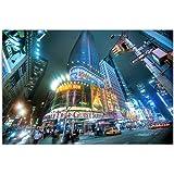80 x 120 Cm-imprimé sur toile et châssis motif times square new york la nuit lED sur toile moderne-photos élégant et décoration