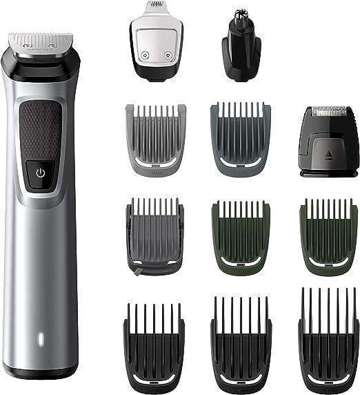 Philips Barbero MG7710/15 - Recortador de barba y precisión 12 en 1 tecnología Dualcut, autonomía de 120 minutos, batería: Philips: Amazon.es: Salud y cuidado personal