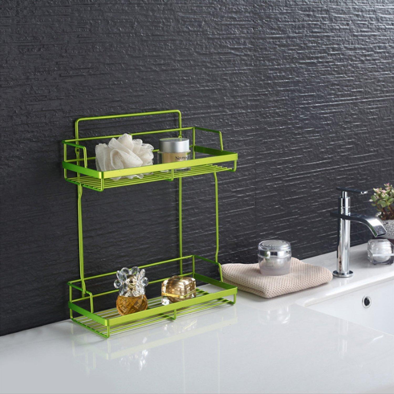 nugoo grün vergoldet 2 Etagen freistehend/Wand montiert Draht ...